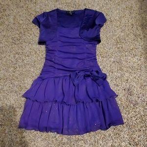 Purple kids dress